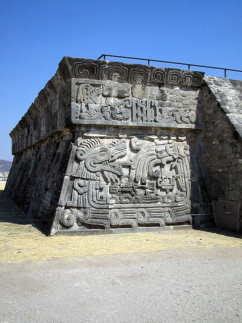 Temple of the Feathered Serpent . Xochicalco, Mexico