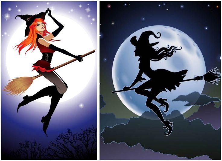 Картинка на аву ведьма на метле