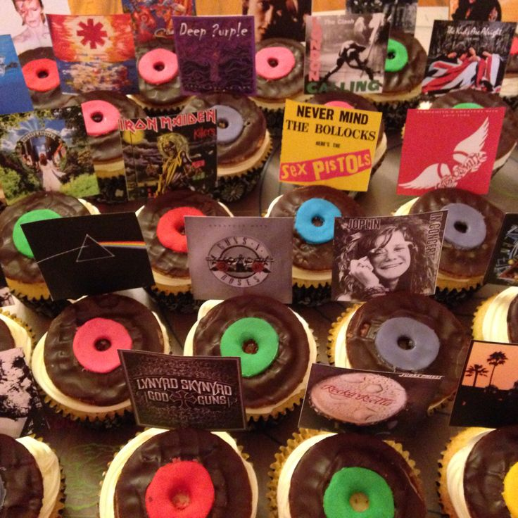 Album cover Cupcakes - with Jaffa Cakes and coloured icing