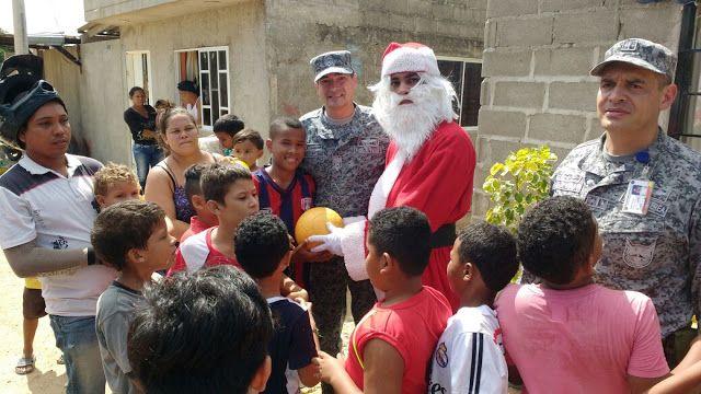 La Fuerza Aérea Colombiana, llegó con Papa Noel a La Guajira