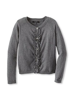 62% OFF Gil & Jas Girl's Ruffle Cardigan (Charcoal Heather)