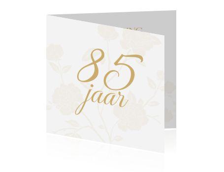 Uitnodiging vrouw verjaardag 85ste jaar