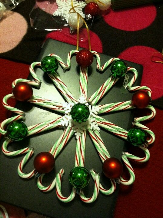 My friend Missy's candy cane wreath!