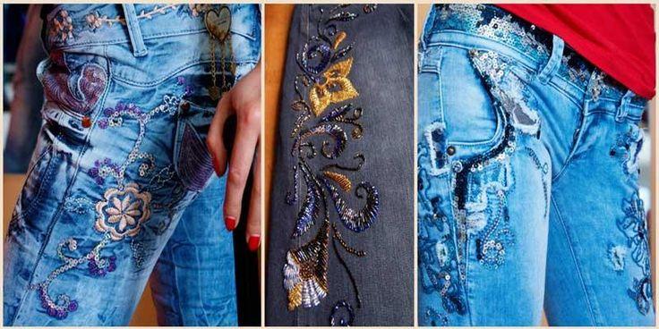 Как расшить джинсы стразами рисунки