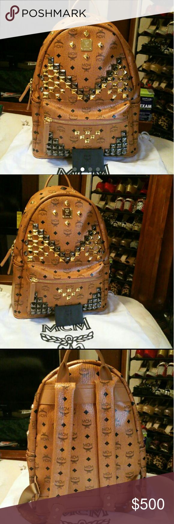 Authentic MCM Backpack Size Medium Brand new worn once. Authentic comes with warranty, care cards, & dust bag. No low ball offers please!!! **Flash sale** PRICE IS FIRM EXCEPT PP OR ♏ERCARI MCM Bags Backpacks
