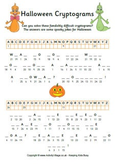 Halloween Printable from Activity Village