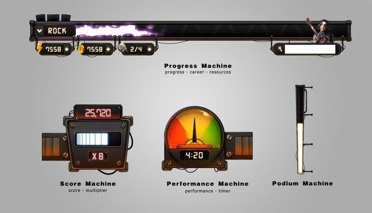 Game Machines UI (TubeHero, JamRT)