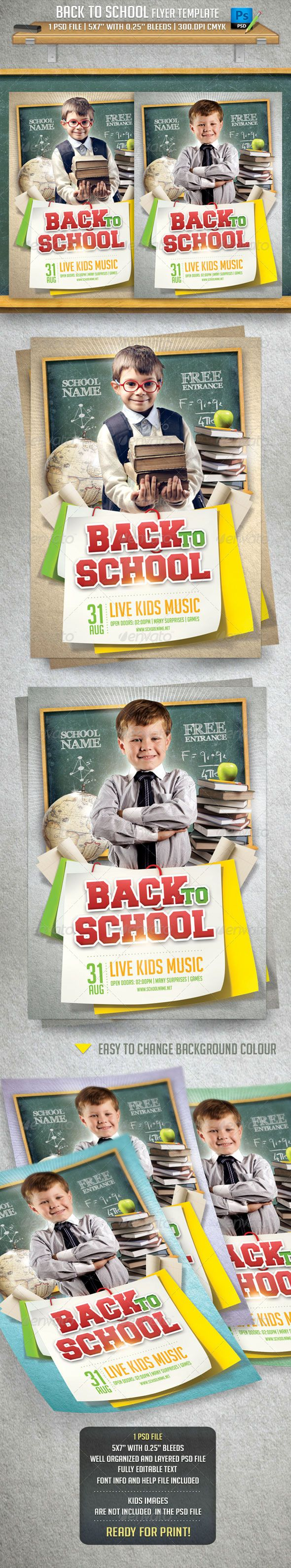Back To School Flyer Template #graphicriver