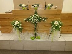 Decorating the altar in Mayberry Park congregation (New Apostolic Church)