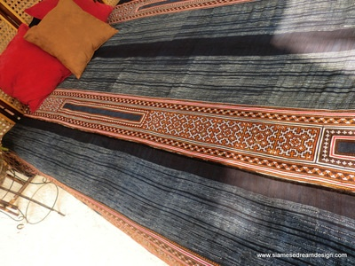 #Hmong #repurposed #Duvet  We have taken a vintage hand stamped batik, and embroidery blanket done by the talented Hmong women and created a duvet cover.    The duvet cover is backed with natural indigo blue cotton and includes ties inside the duvet pocket to keep your duvet insert in place.     Free worldwide shipping