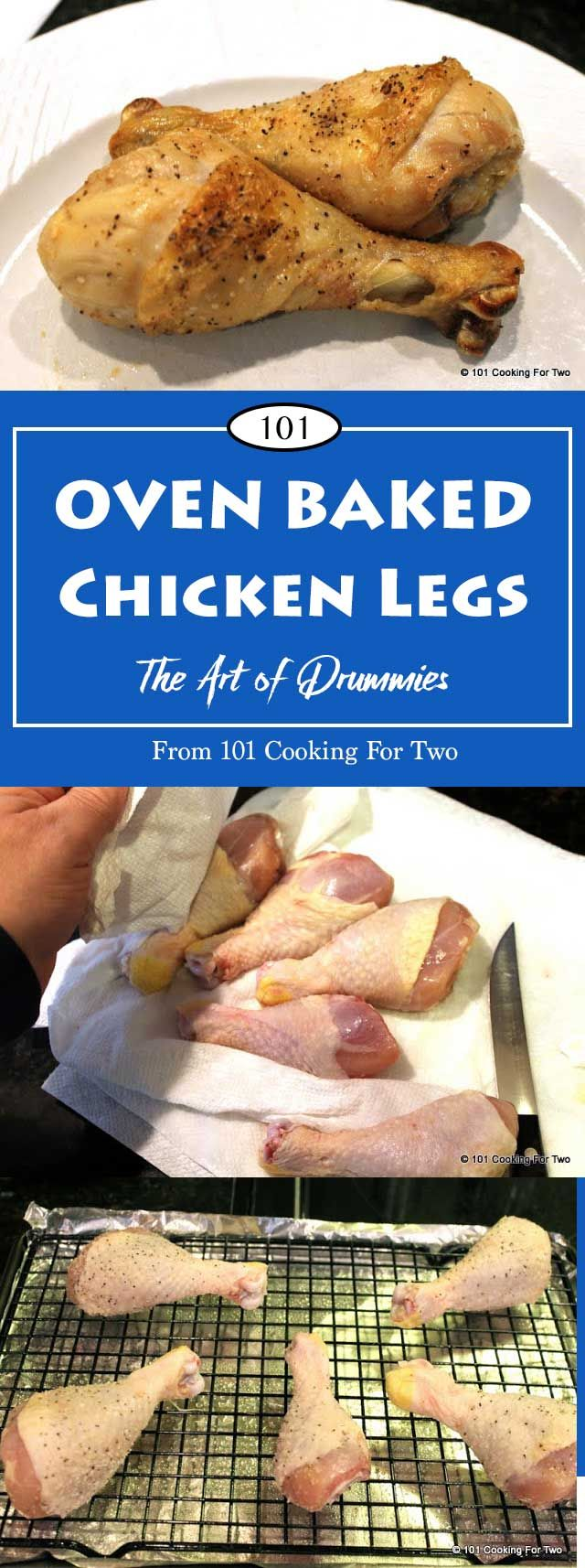 Convection Oven Baked Chicken Legs From 101 Cooking for Two