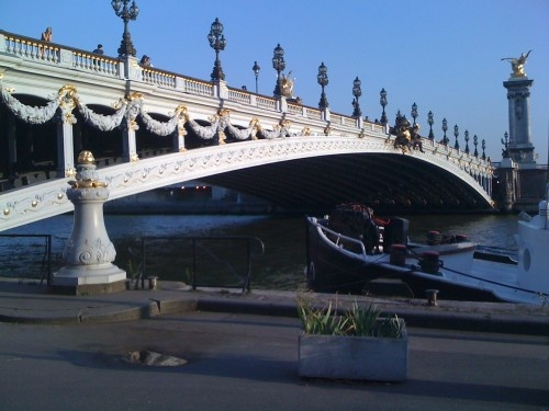 #Paris #Locations Walkway bordering Sena river. Click photo for geolocation and details