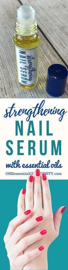DIY essential oil nail serum for dry, weak, brittle fingernails