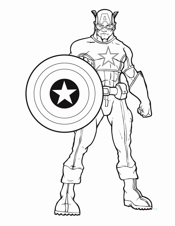 Captain America Shield Coloring Page