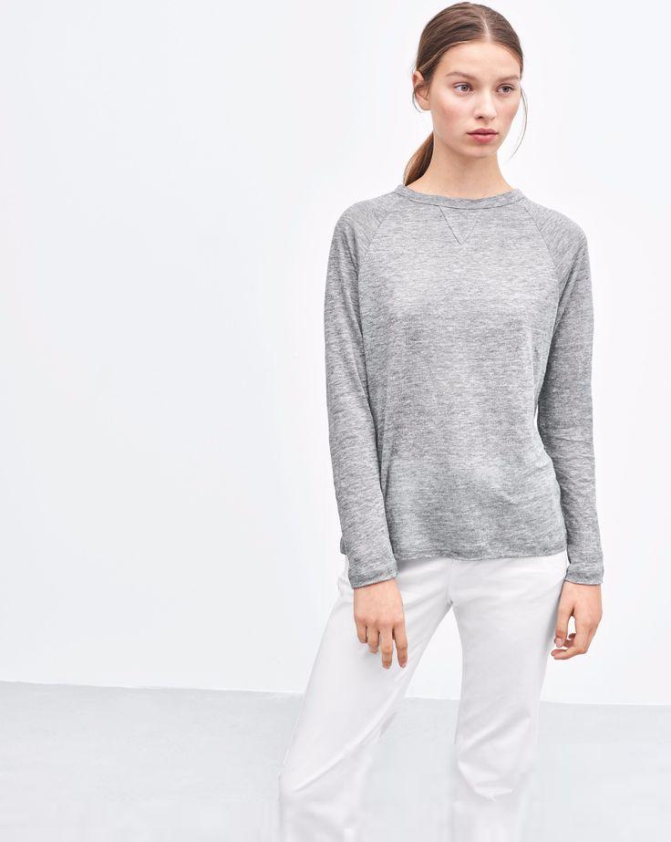 Linen Sweatshirt Tee
