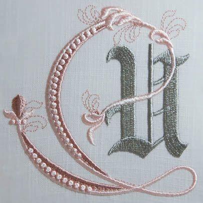 Fleur de Lis Alphabet- U: