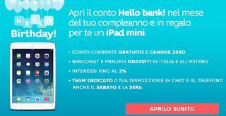 Facile Risparmiare!: Hello! Bank ti regala un iPad Mini Retina