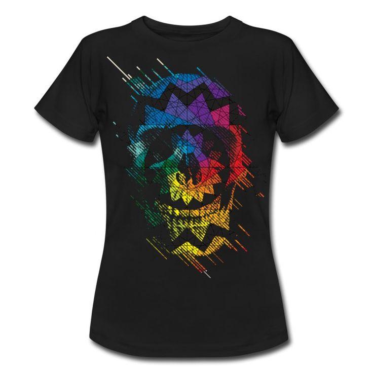 Hvit Geometrisk Skull T-skjorter - T-skjorte for kvinner