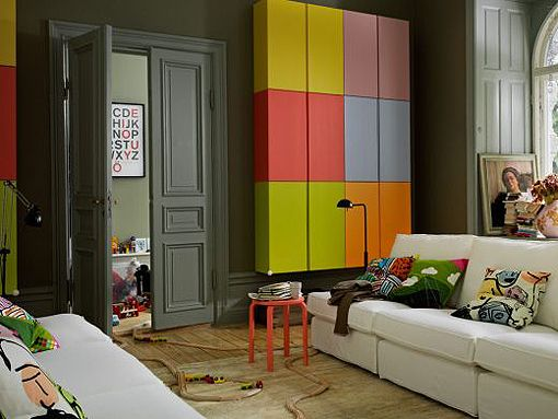 Love this, for a child's play room. Elegant, but colourful!