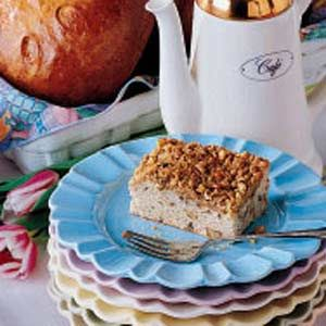 Walnut Coffee Cake Recipe -This has been in the family some time. I am now a great-grandmother myself (I have one little great-granddaughter; in addition, I have three grandchildren and a son), and it's one of the recipes that my mother used to make long ago. I've lived on the farm where I was brought up all my life. I am a jack-of-all-trades in the kitchen, and my husband and I both enjoy hunting. -Beatrice Richard, Posen, Michigan
