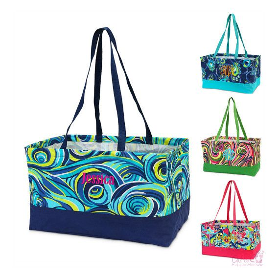 Hey, I found this really awesome Etsy listing at https://www.etsy.com/listing/288991259/monogrammed-large-utility-tote-bag