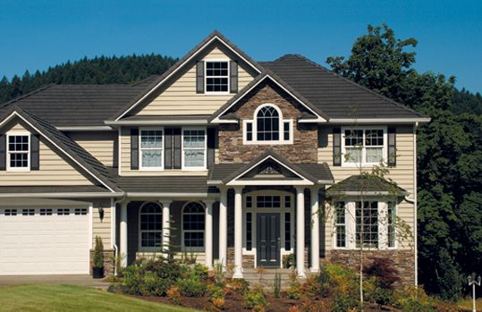 19 best images about home exterior on pinterest home for Siding styles and colors