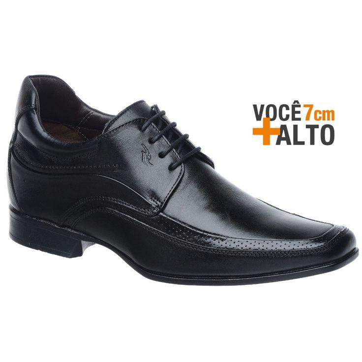 Sapato Rafarillo Linha Alth Você + Alto 7cm 3206 Preto com Cadarço - FKV Calçados