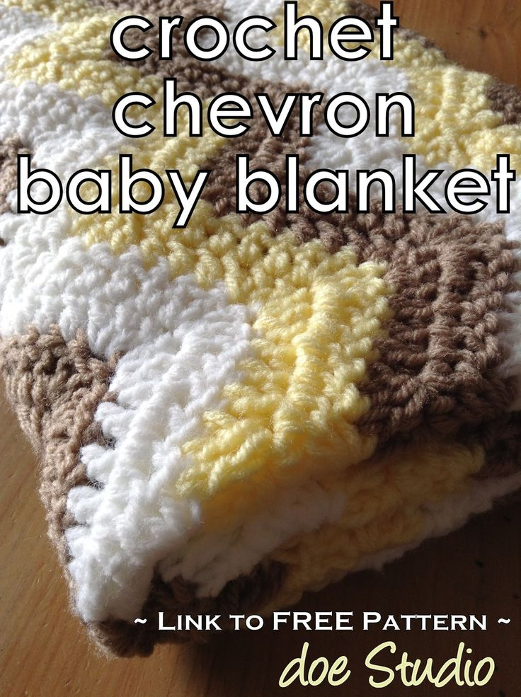 doe Studio: ~free pattern~ Crochet Chevron Baby Blanket