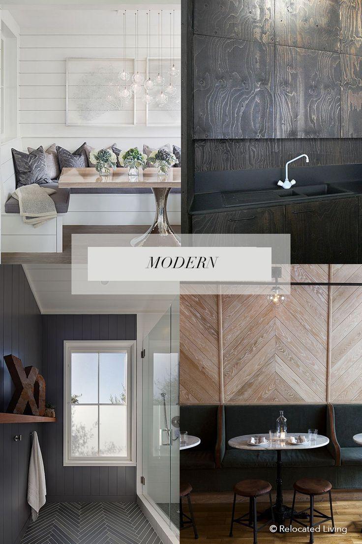 Modern shiplap board batten plywood tongue groove wood paneling