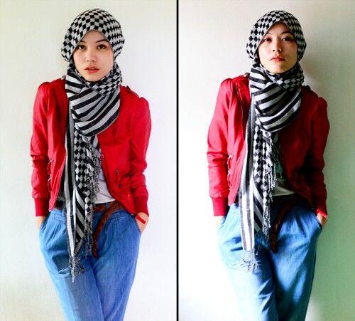 Hejab street style | Hana Tajima. She's the master.