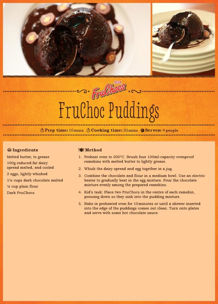FruChoc Puddings