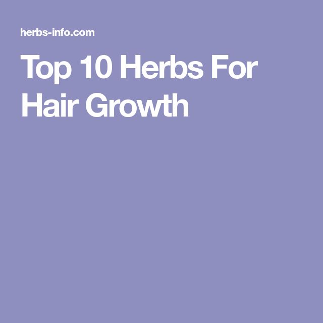 27 best good health images on pinterest health loosing weight and top 10 herbs for hair growth fandeluxe Gallery