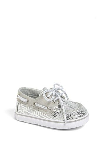 Seriously adorable - silver baby Sperry boat shoes