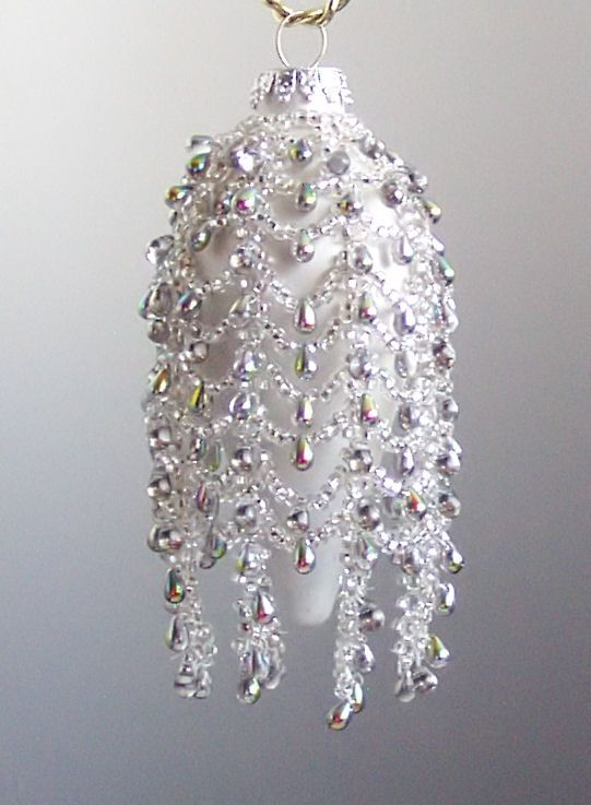 love the drape.  Free Beaded Ornament Cover Patterns | beaded-ornaments