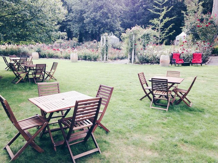 Our set of wooden tables and chaires available for hire. Visit our website to arrange your next event .