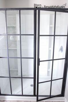 DIY industrial factory shower door how-to