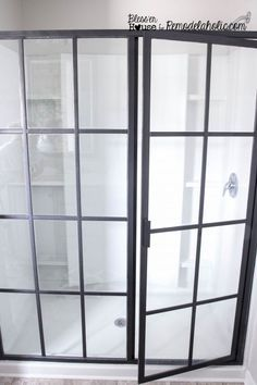 DIY industrial factory shower door how-to