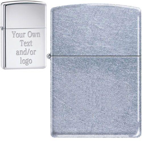 Zippo Custom Lighter - Free Engraving, LOGO, STREET CHROME, 207, GREAT GIFT!