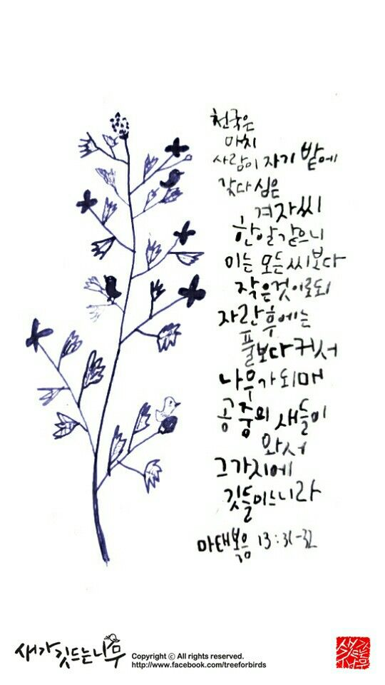 illustration and bible calligraphy
