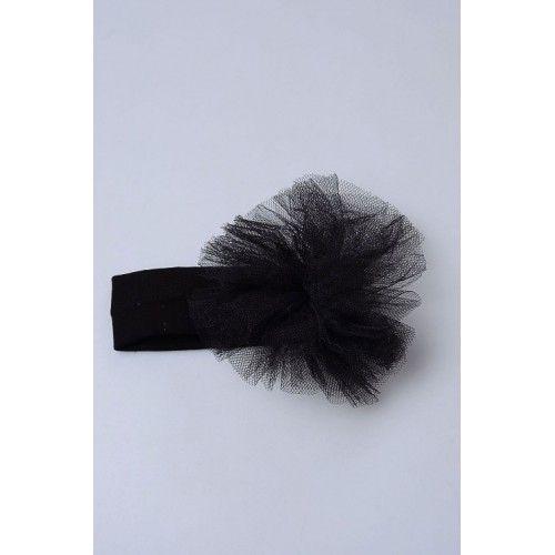 Bebek Saç Bandı - Siyah Tütü Çiçekli