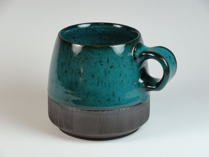 Bare Bottom Teal Mug by wlabellepottery on Etsy