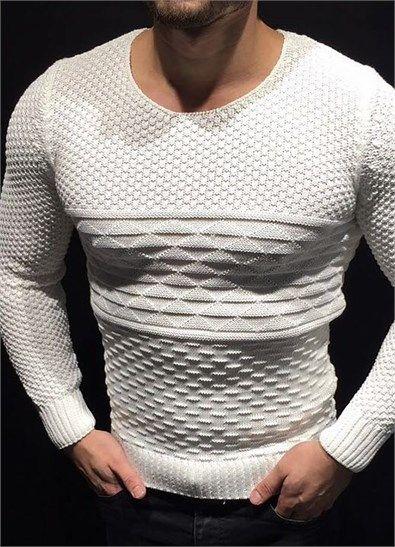 Tarz Beyaz Erkek Kazak ürününü ayrıntılı incelemek için hemen tıklayın. En şık Triko Hırka ve Kazak modelleri için seçim Modagen.