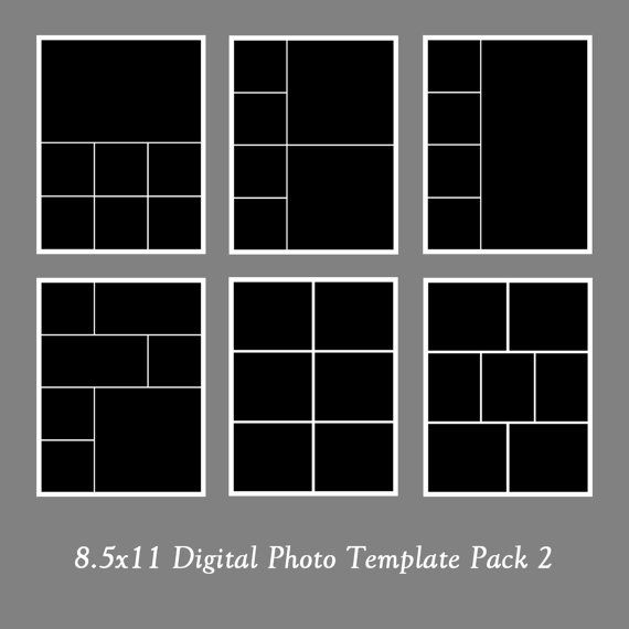 Photo template pack photo collage portfolio for 4 picture collage template