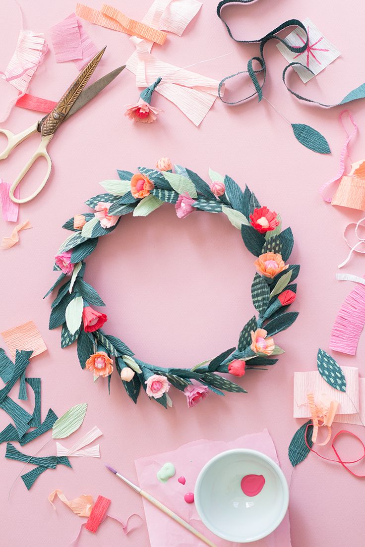 Can't wait to start this pretty floral crown DIY.