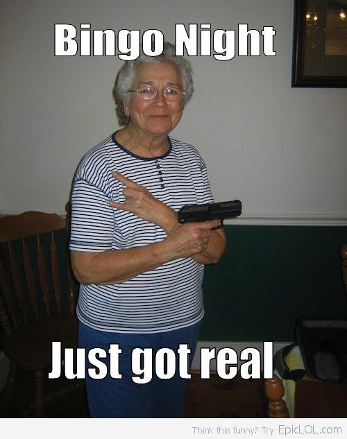 Grandma is a hardcore thug.
