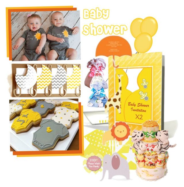 Baby Shower by betiboop8 on Polyvore featuring interior, interiors, interior design, home, home decor, interior decorating and babyshower