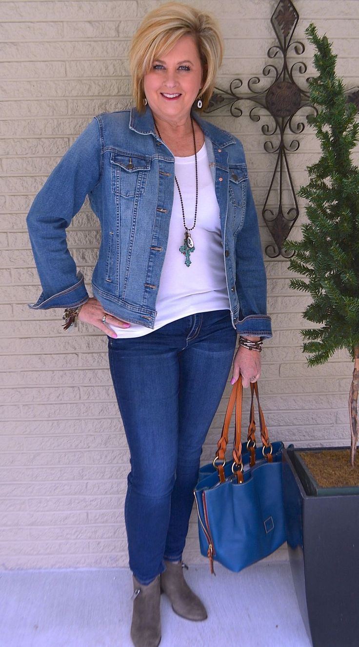 50 IS NOT OLD   T-SHIRT AND JEANS SERIES, PART FOUR   Comfortable and Casual   Denim Jacket   Fashion over 40 for the everyday woman