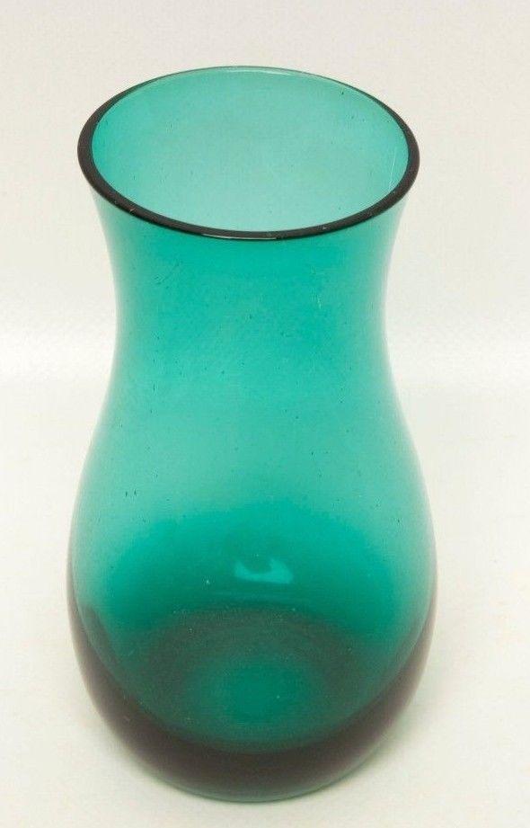 Not vintage turquoise glass vase