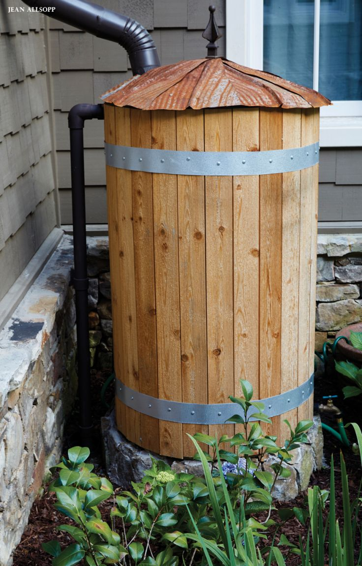 Rain water barrel. #garden                                                                                                                                                                                 More