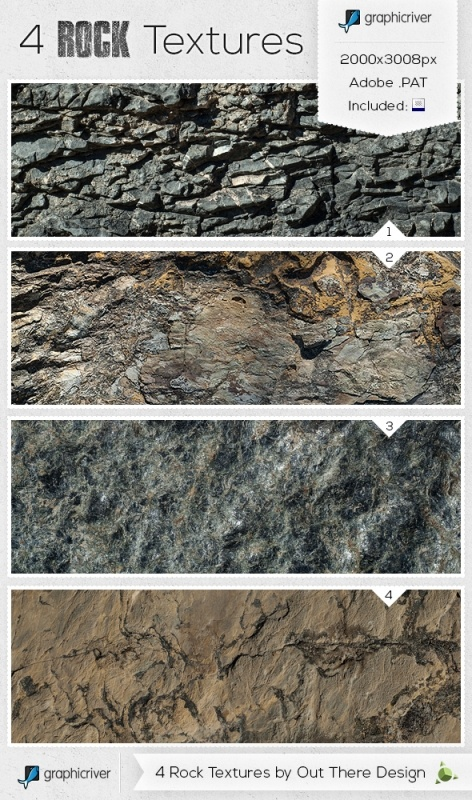 4 High Resolution Rock Textures - Out There Design Blog
